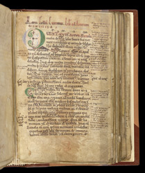 Decorated Initial, In A Volume Containing Miscellaneous Texts Including Works By Walter Of Châtillon And Cicero